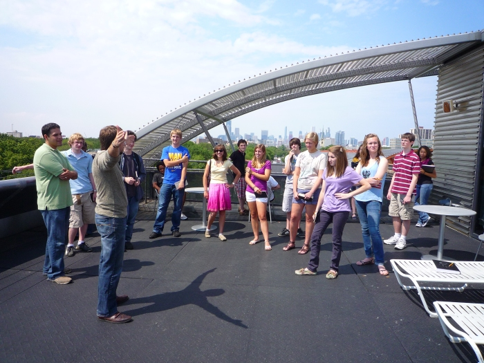 State Street Village (SSV) Tour | Students on top of roof deck