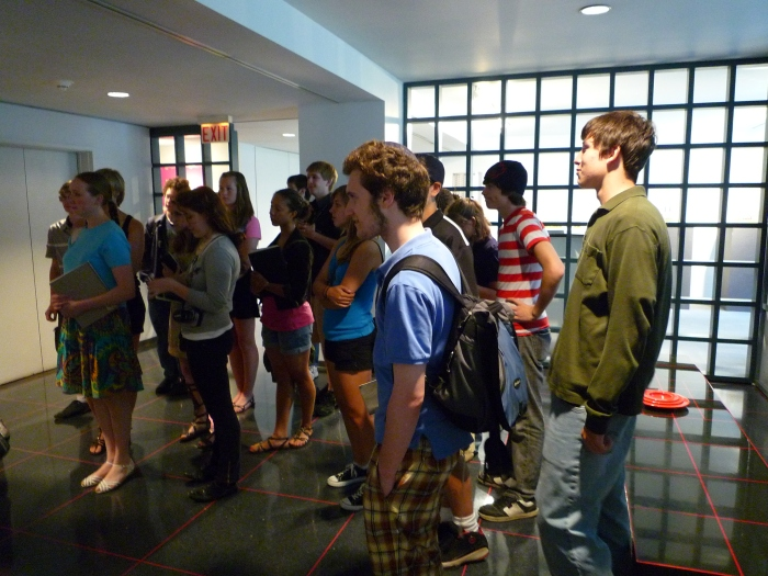 Murphy/Jahn Office Tour | Students in Lobby