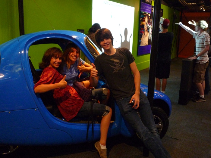 Museum of Science and Industry | Rachel, Amy, and Zephan in Fast Forward Exhibit